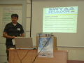 SWYAA of Ecuador having presentation