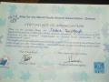Certificate close-up
