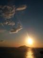 Sunset from temple of Poseidon 2