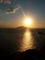 Sunset from temple of Poseidon 1