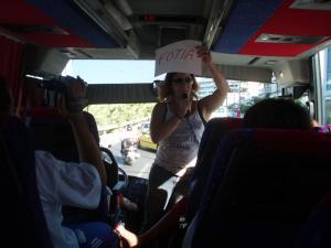 Alexandra is teaching us greek