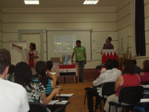 Egypt and Bahrain making presentation