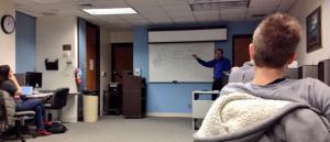 David Herzog lär ut grunderna i databashantering på CAR Boot Camp.