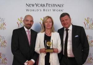 Kalla fakta gräver guld i USA: Från vänster: Aleksandar Vujanovic, Cecilia Wanger och Johan Åsard.